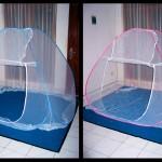 kelambu moden biru pink