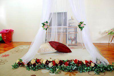 Tamanjel kelambu dekor kamar pengantin putih lazada for Dekor kamar hotel