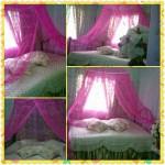 kelambu gantung pink