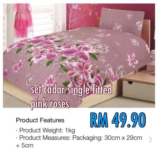 Cadar single pink roses