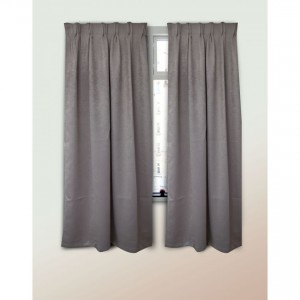 Curtain Polyster Blackout grey