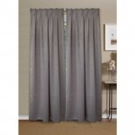 Curtain Polyster Blackout grey2