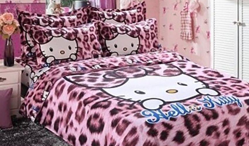 CADAR HELLO KITTY  KING QUEEN Leopard Light Pink