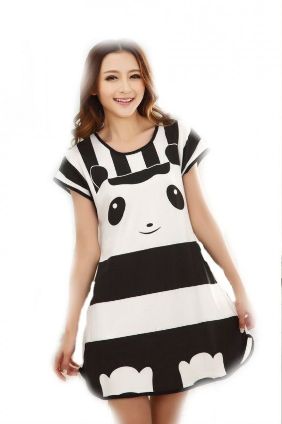 Cartoon Nightdress panda