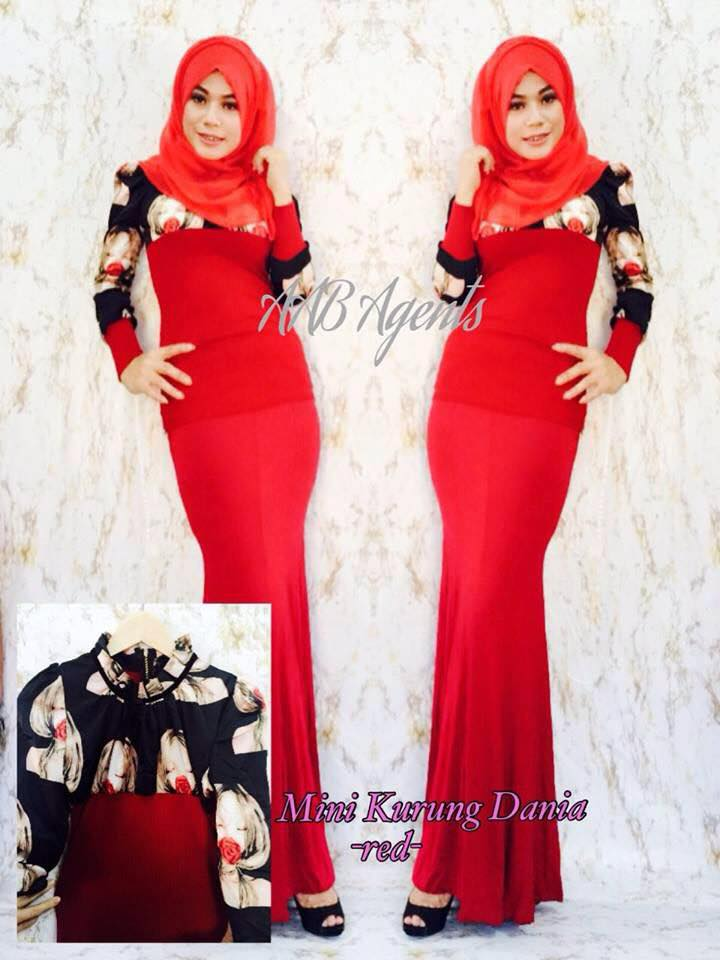 MINI KURUNG DANIA red