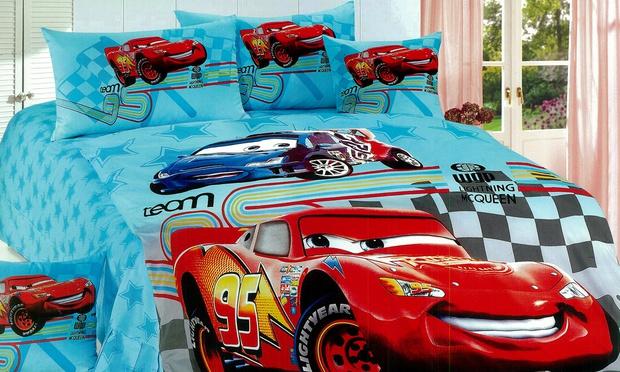 set single kartun cars blue