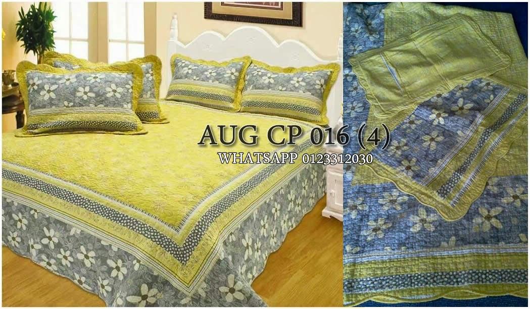 promosi cadar patchwork 4 sarung bantal