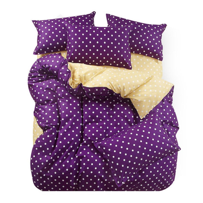 polkadot queen dark purple cream