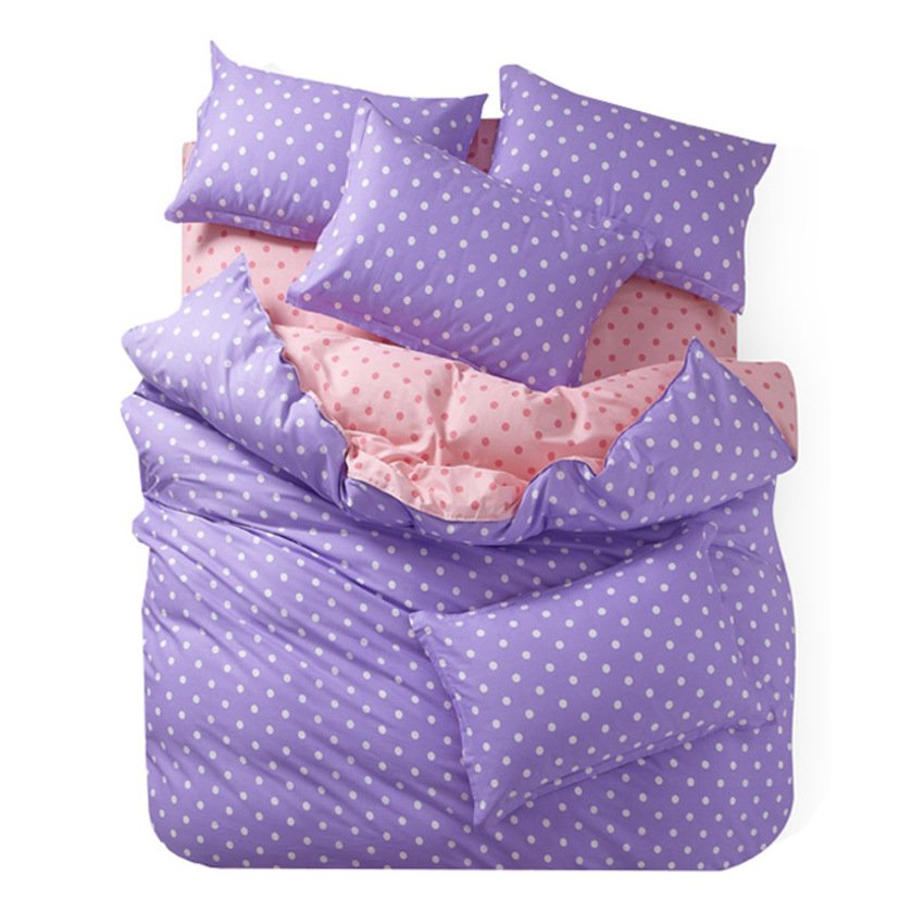 polkadot queen light purple cream