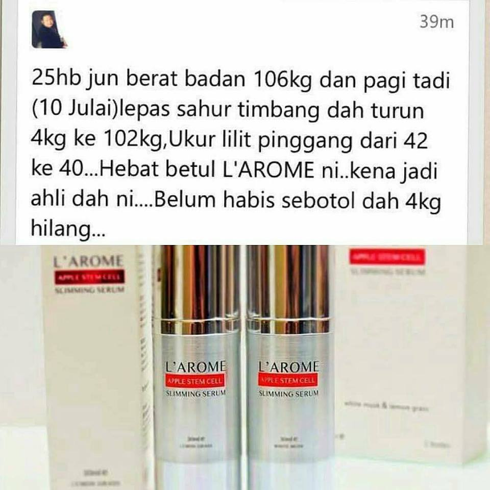 testimoni larome serum