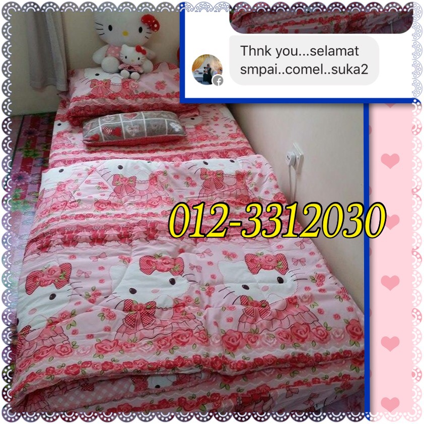 SINGLE COMFORTER HELLO KITTY