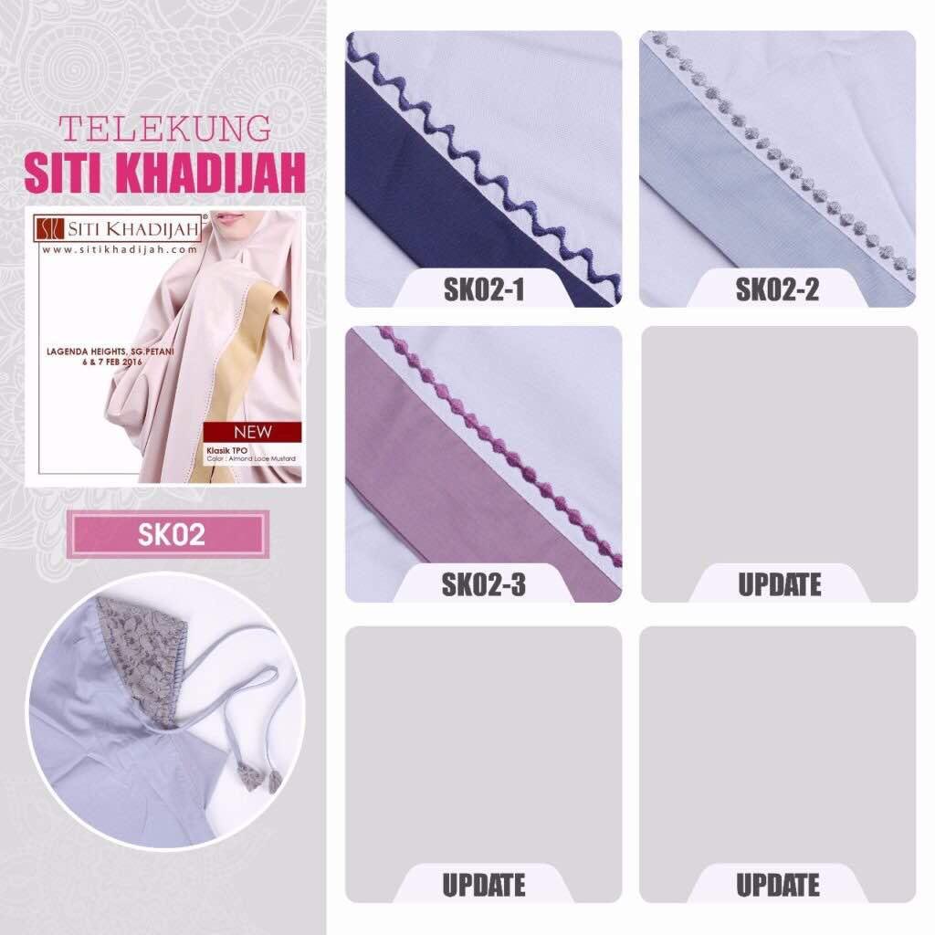 Telekung Siti Khadijah | ..:: Kedai Cadar Patchwork Murah ...
